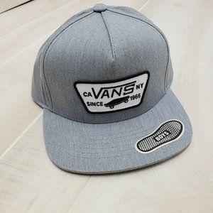 VANS Boys Hat Snapback Logo Skateboard Cap NWT